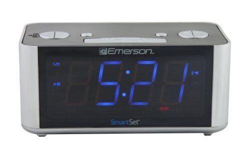 Emerson Smartset Desktop Clock Radio - Mono - 2 X Alarm