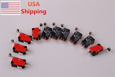 10pcs V-156-1C25 MICRO SWITCH SPDT HINGE ROLLER LEVER 15A DC AC