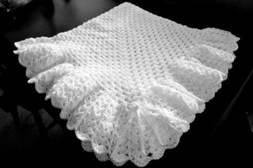 Crochet Christening Shawl Ebay