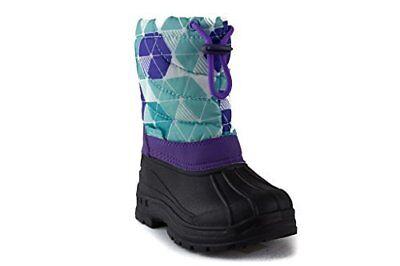 Little Kids Toddler Girls BHD-02I Pull On Fleece Lined Winter Rain Snow Boots (Little Girls Snow Boots)