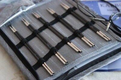 Knitter's Pride Karbonz Starter Interchangeable Long Tip Knitting Needle Set 110