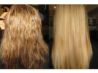 Brazilian keratin treatment,advanced formula,have it done in the comfort of your own home
