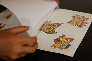 Temporary Tattoo Paper - print fake tattoos from home printer
