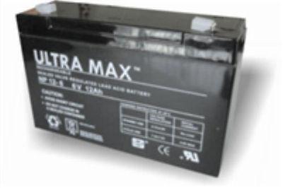 ULTRAMAX 6V 12Ah Batería Peg Perego, Feber, Indusa - Juguete Eléctrico Coches