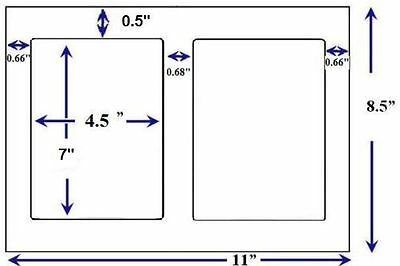 200 Self Adhesive 4.5 X 7.0 Round Corner Blank Shipping Labels 2 Per Sheet Usps