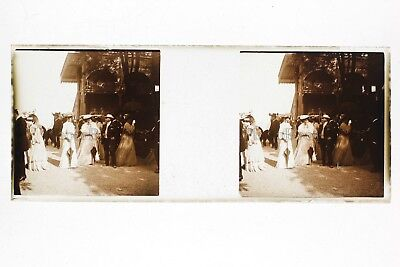 Fashion Women Nobility France Plate glass Stereo Positive Vintage ca 1910