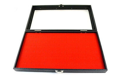 New Glass Top Red Pad Display Box Case For Jewelry Militaria Medals Pins