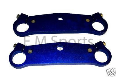 Mini Pocket Bike Crotch Rocket Handle Bar Fork Plate Parts Blue 47cc 49cc