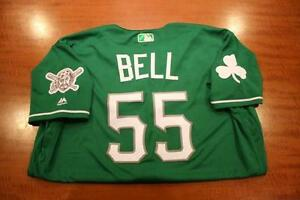 josh-bell-game-used-pirates-st-patricks-day-jersey