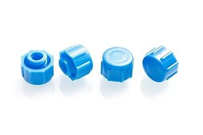 Global Medical Products Syringe Tip Caps - Qty 100 - Blue