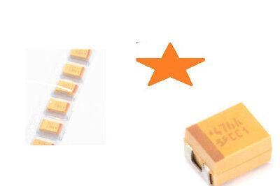 Smd Capacitor Case Size B1411 10uf 20 20v Tantalum 10pcs