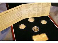 undated 20p, no date 20p, undated twenty pence prestige gold coin set,very rare