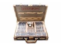 Royalty Line 72pc Stainless Steel/Satin Cutlery in BEAUTIFUL PRESENTATION CASE RRp 800