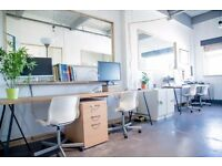 A bright and airy 4 person start-up workspace studio office in Hackney Wick creative community