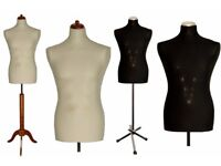 MALE Display Mannequin , Dressmakers Bust, Tailors Dummy UK size 40 in CREAM or BLACK