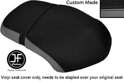 GREY AND BLACK VINYL CUSTOM FITS <em>YAMAHA</em> XF 50 GIGGLE DUAL SEAT COVER O