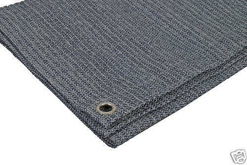 Eco Mat 2.5 x 2.5m Charcoal/Grey Breathable Caravan Awning Carpet Groundsheet