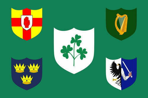IRELAND RUGBY FOOTBALL FLAG 5x3 Irish Shamrock Ulster Connacht Leinster Munster
