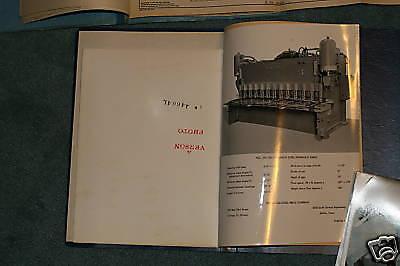 Verson Hs-750 Shear Manual