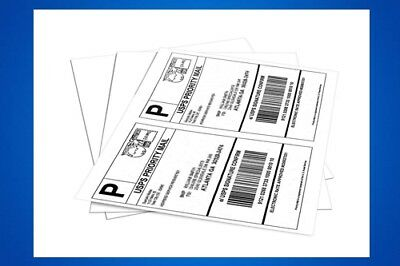 1000 X Shipping Label Address Mail Return Printing Packaging Strong Ink Jet Usa