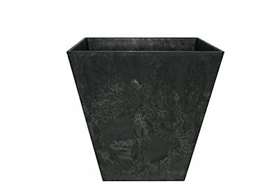 Ivyline Artstone Pot 35x34cm Ella Black For Outdoor And Indoor Use Lightweight