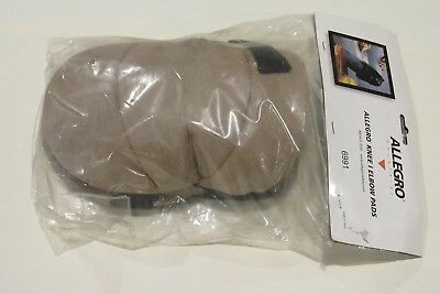 New Pair of Allegro Knee Pads 6991 Leather, Tan One Size  Free