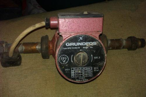 grundfos heating pump central heating pumps ebay. Black Bedroom Furniture Sets. Home Design Ideas