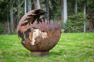 Death Star Fire Pit - Natural Gas - Match Lit