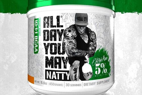 5% NUTRITION ALL DAY YOU MAY *NATTY* amino bcaa rich piana 5150 natural kill it