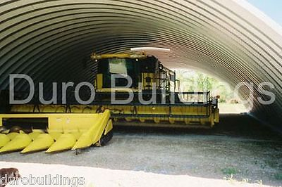 Durospan Steel 55x206x19 Metal Quonset Building Ag Machine Shed Open Ends Direct