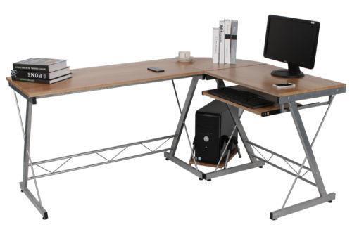 Wooden Corner Desk Ebay
