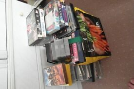 collection of vhs films and box sets