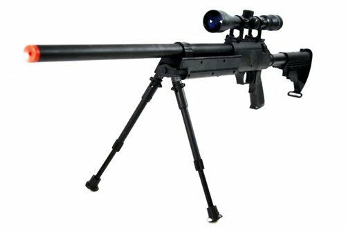 Full Metal Modular Bolt Action Airsoft Sniper Rifle BB Gun 470 FPS w/ Scope