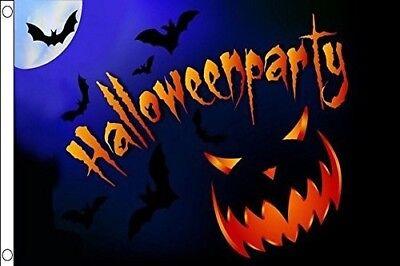 3x5 Happy Halloween Party Jack O Lantern Shadow Rough Tex Kn