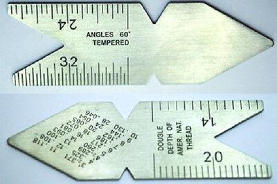 Center Fish (Screw & Center Pitch Gage Fish Tail USA Standard 60 Degree CG60 Fishtail,)