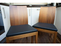 Habitat Catania Dining Chairs PAIR WALNUT