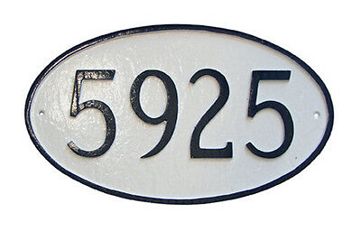 Oval Address Plaque Lawn Marker House Sign Numbers wall Custom Made ()
