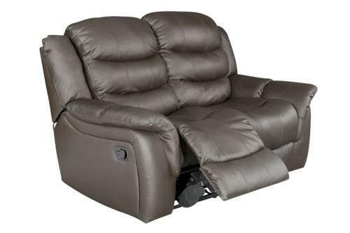 2 Seater Brown Leather Recliner Sofa Leather Sofas Ebay