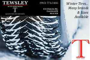 Winter Tires with or without rims available.