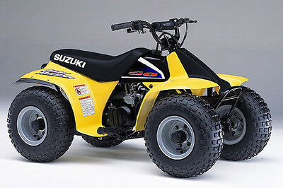 Suzuki LT50 Kids Quad 1989-2006  6 in 1 Owners Service Manual s - FREE POST