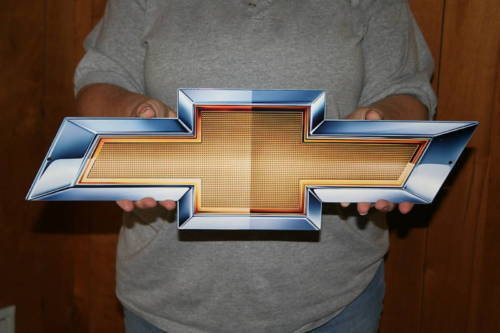 Chevrolet GM Bowtie 21x7 Metal Art Sign - PhotoSTEEL