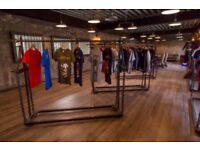 13 x Vintage Industrial Inspired Steel Rustic Clothing Fashion Rail - Wholesale