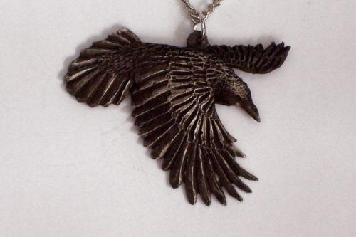 Carved raven ebay