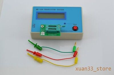 Mk-168 Transistor Tester Capacitor Inductance Lcr Npn Pnp Mosfet Resistor Meter