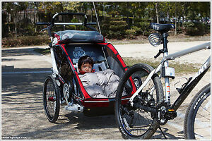 Chariot CX 2 double/single jogging stroller/bike trailer
