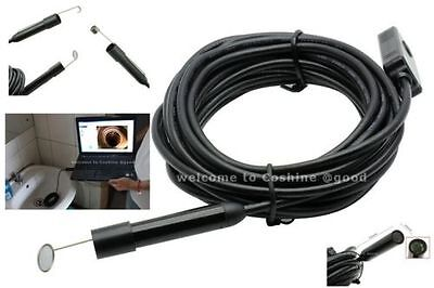HD 720P 5M USB VIDEO INSPECTION ENDOSCOPE BORESCOPE SNAKE TUBE CAMERA WATERPROOF