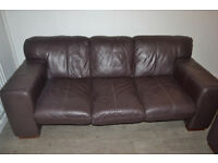 ONE pound - 2 x leather sofas and 2 double beds