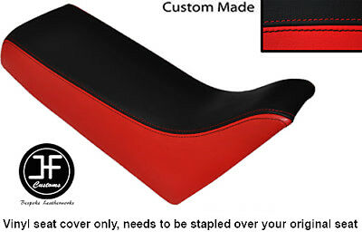 BLACK AND RED AUTOMOTIVE VINYL CUSTOM FITS <em>YAMAHA</em> PW 80 50 SEAT COVER