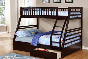 BUNK BED WITH STORAGE DOUBLE/ SINGLE $449.00