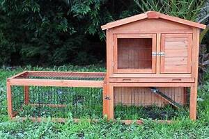 Double Storey Rabbit Hutch with Run Guinea Pig Ferret Cage Mordialloc Kingston Area Preview